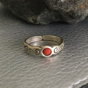 Silpada Sterling Coral Toe or Midi Ring
